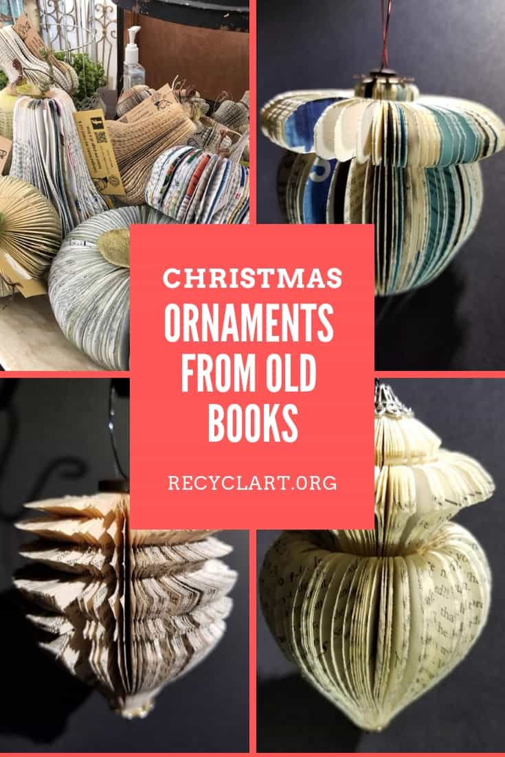 20 Marvelous Contemporary Home Exterior Designs Your Idea Book Must Have: Recyclart.org Christmas Ornaments From Old Books 09.jpg