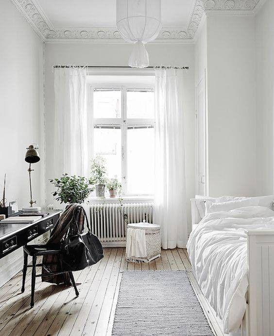 Minimalist Bedroom With Desk