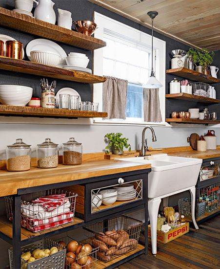 Rustic Kitchen Cabinet Colors