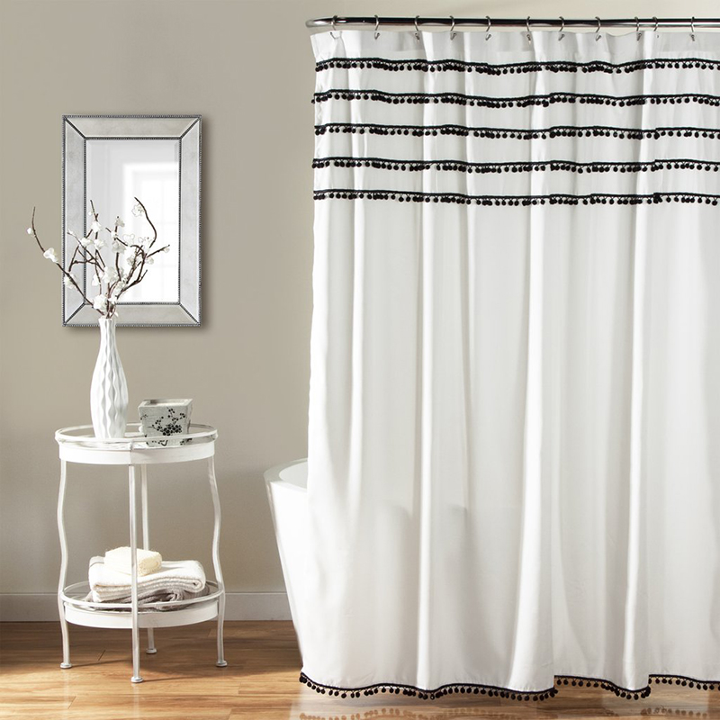 Aria Pom Pom Shower Curtain