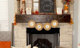 DIY Fall Living Room Decoration With Fireplace Ideas