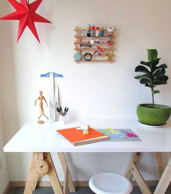 Craft Desk Design Idea – Source Homedit.com