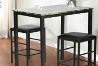 FDW Dining Kitchen Table Dining Set Marble