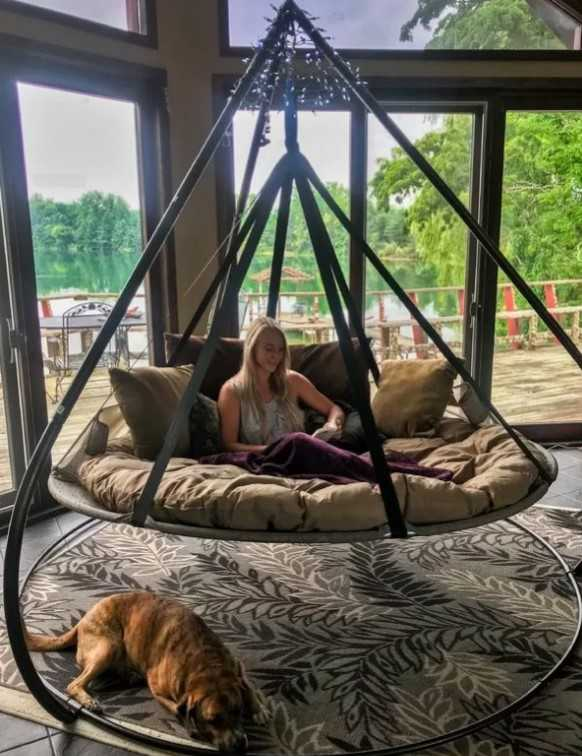 Flying Saucer Chair Hammock With Stand