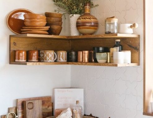 An Open Stained Shelving