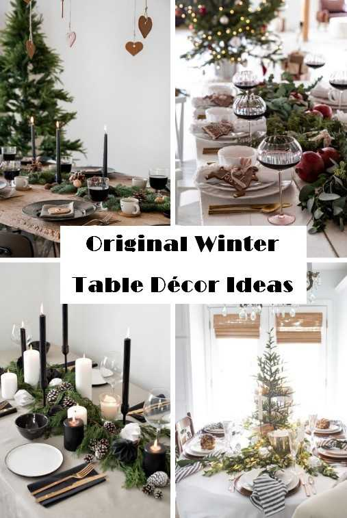 Original Winter Table Décor Ideas