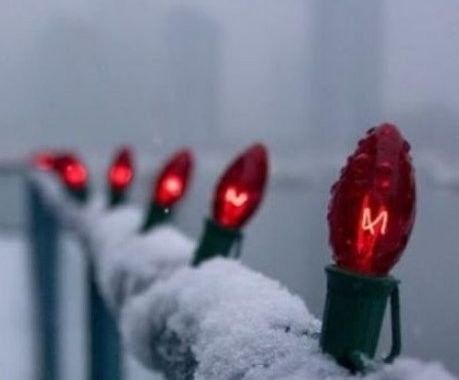 Red Bulbs Attached To The Railing Will Make Your Balcony Fele Much More Festive And Cool
