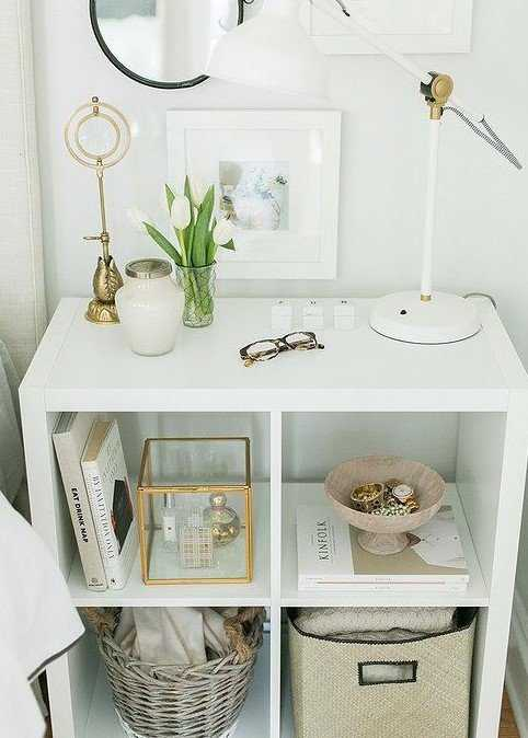 Nightstands White Drawers Vanity Ideas