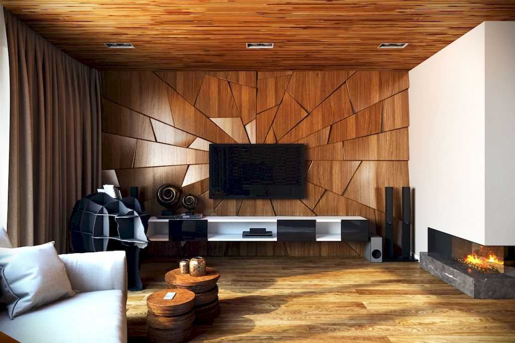 Wood Finish Accent Walls