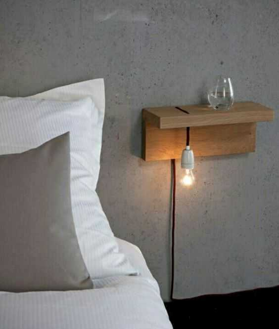 A Double Floating Wooden Nighstand Looks Minimalist And Chic Not Bulky At All