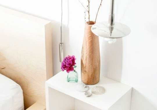 A White Open Box Bedside Table Is A Timeless And Stylish Idea