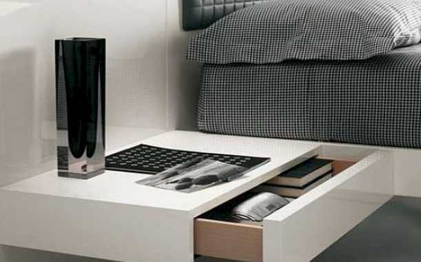 A Minimalist White Bedside Table With A Drawer Is All You Need