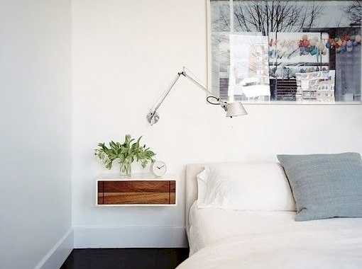 A Modern Tiny Floating Nightstand With A Stained Wood Drawer For A Chic Look