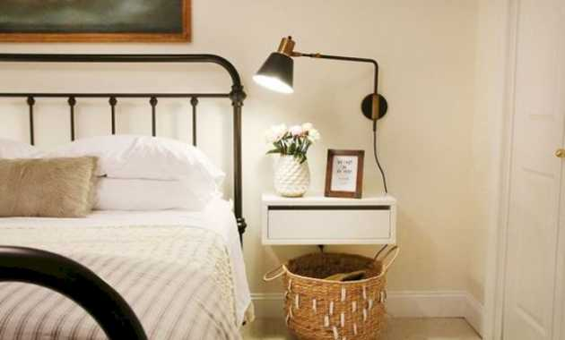 A Simple White Drawer Nightstand Looks Very Airy And Doesnt Make The Room Look Bulky