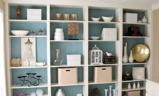 Painting The Bookcases Back Panel Might Be A Great Way To Add A Color Splash To Your Room