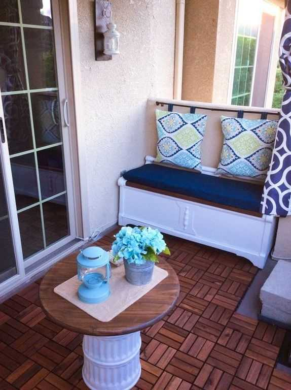 Bench Balcon Balcony Storage Ideas