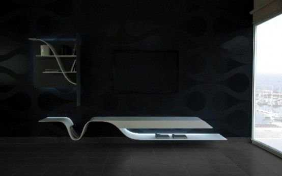 Futuristic Melting Shelves