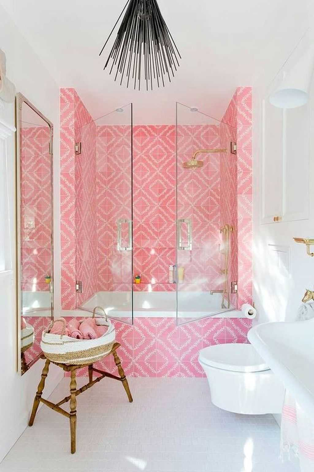 Pink And Gold Bathroom