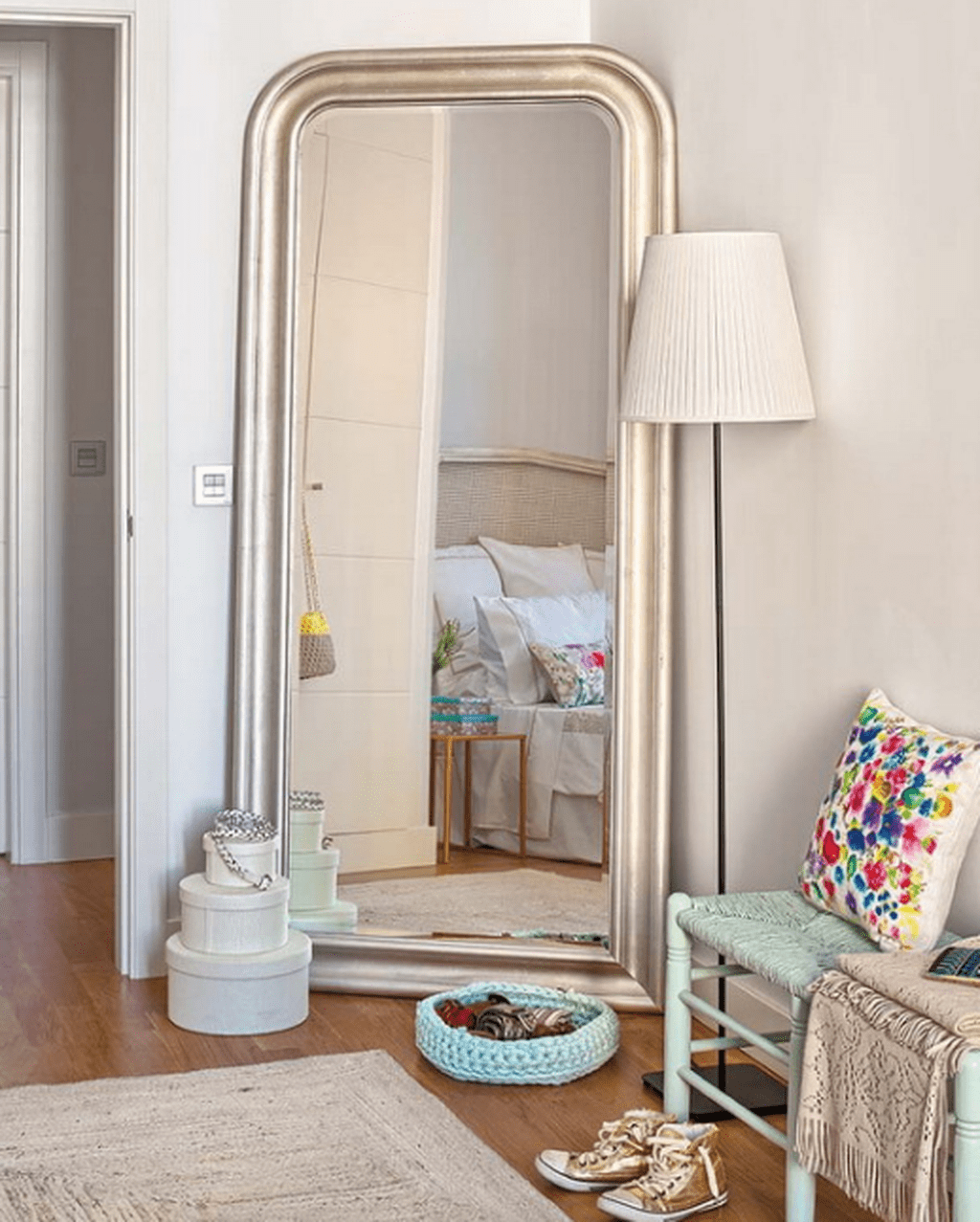 A Mirror Expands The Space And Works For The Dressing Corner