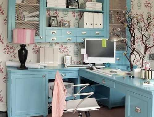 Blue Cabinets Look Very Cute