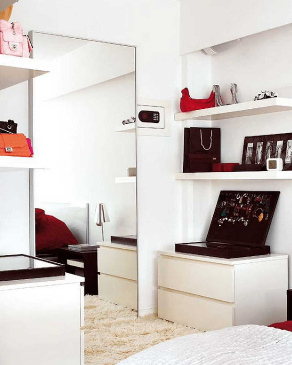 Dressing Corner With A Mirror