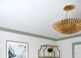 Sculptural Brass Petal Chandelier