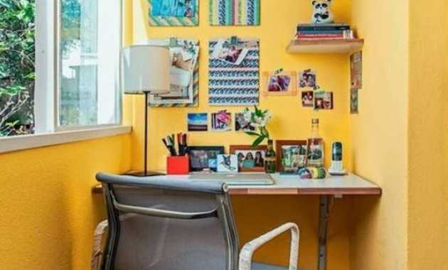 Yellow Painted Study Space