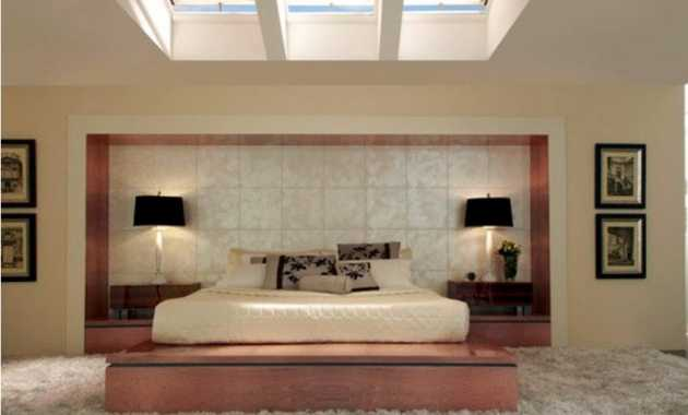 A Bedroom With An Asian Touch Looking Soft With Its Carpet And Is Also Well Lighted Thru The Skylights Above