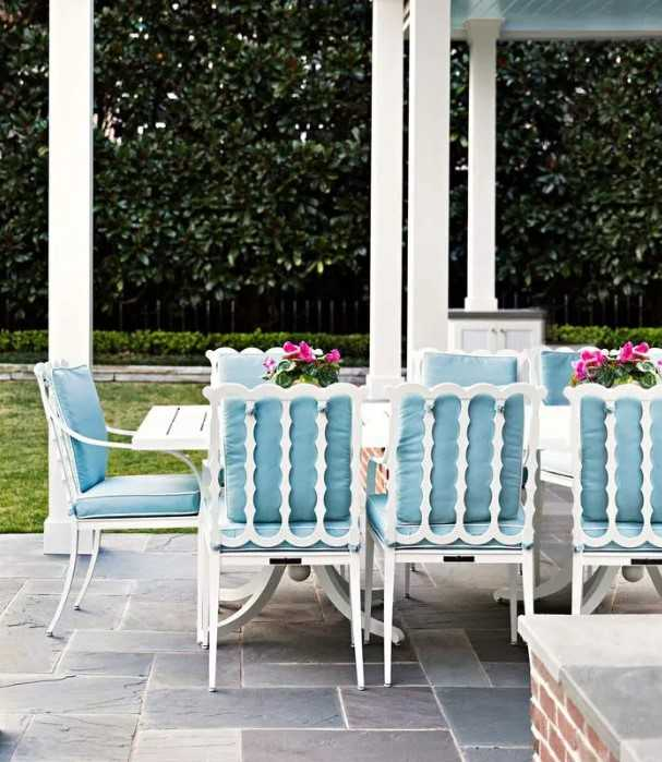 Baby Blue Patio Furniture