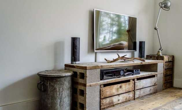 Cinder Block And Wood For Tv Stand