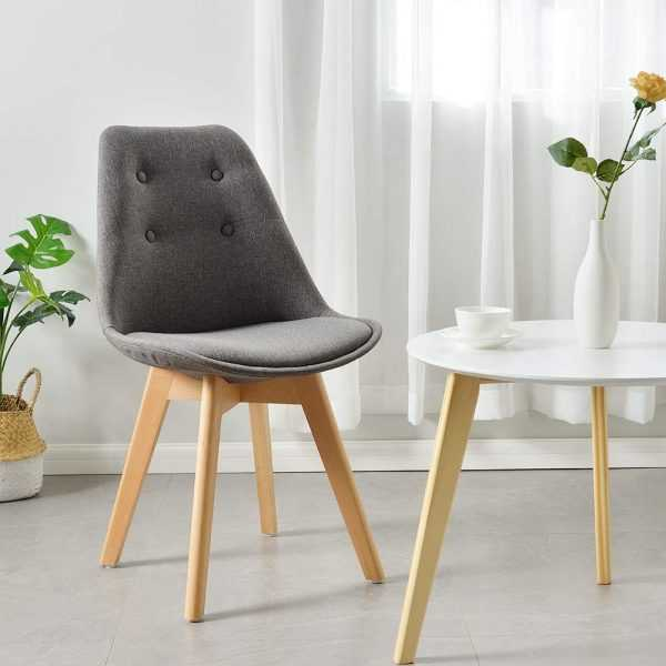 Eames-style side chairs is perfect for a small family in a modern home or a forward-thinking business