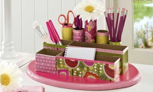 Diy Desk Organiser From Recycled Materials