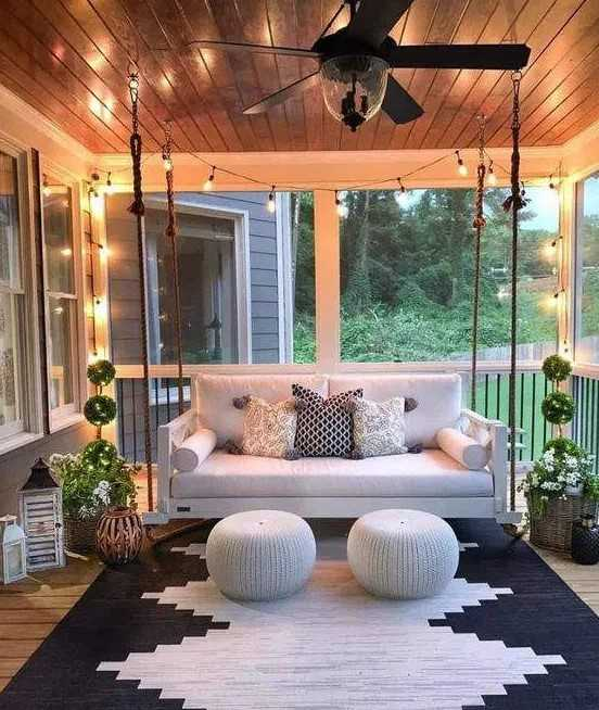 Front Porch With A Swing