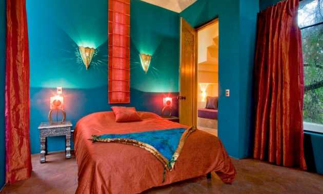 Mediterranean Style Bedroom With Rich Spanish And Moroccan Influence