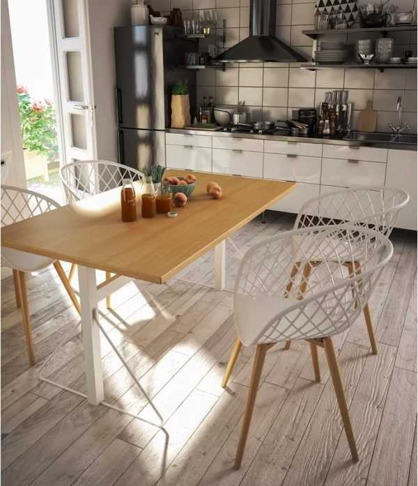 Modern Netted Back Kitchen Chair