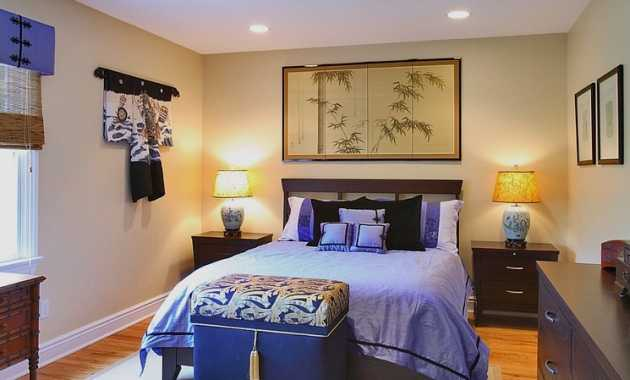 Plush Purple In The Chinese Themed Bedroom