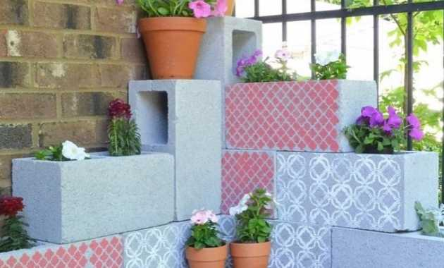 Stenciled Flower Containers