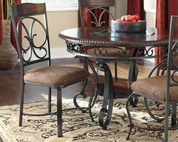 Traditional Wrought Iron Kitchen Chairs