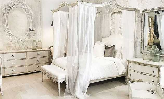 French Country Bedroom Shabby Linen Fabric Original Patinas Painted Wood Dressers And Distressed Country Cottage Beds