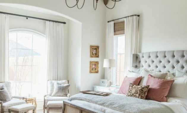 French Country Bedroom With Belgian Bench And Rustic Accents