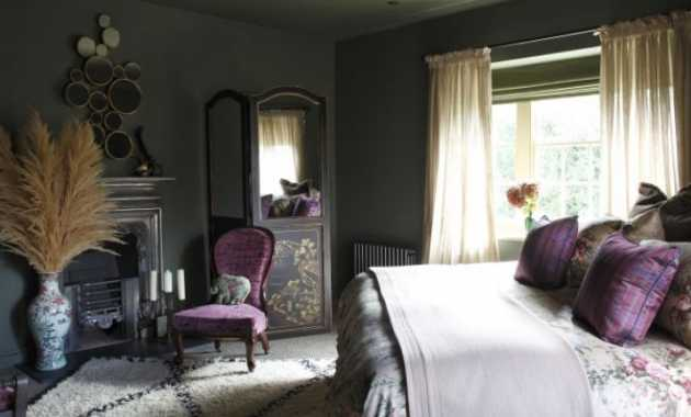 French Country Bedroom With Idea And Paint Walls And Ceilings In A Dark Shade Furnish With Antique