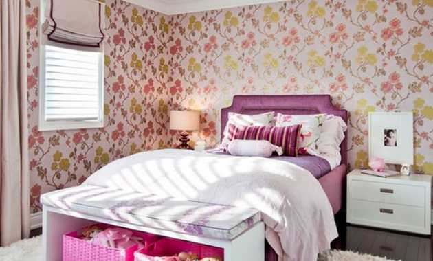 Use Wallpaper To Create A Cute Bedroom