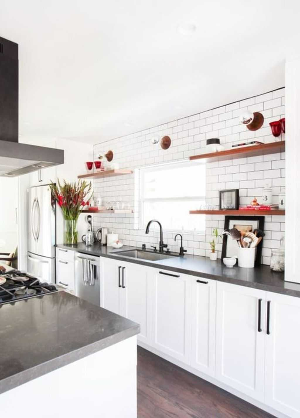 A Bright Kitchen With Sleek Wooden Cabinets