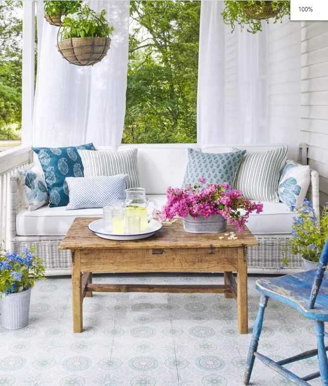 White Themed Porch