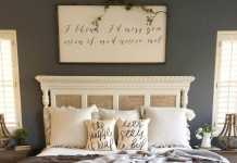 Artwork Pillows And Even The Headboard Feature Sweet Sayings In A Pretty Cursive Font.