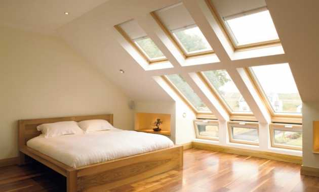 With Bare Colors And Even Less Accents This Attic Bedroom Is A Place To Think And Meditate