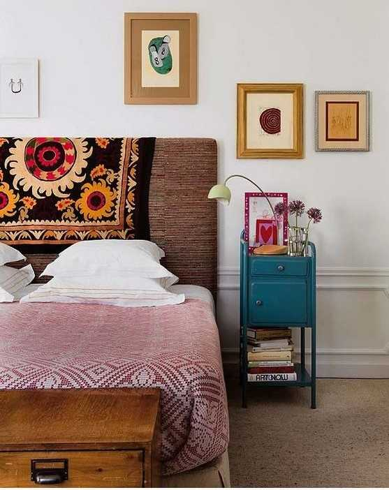 Colorful Eclectic Bedroom In A Bright Mix Of Colors