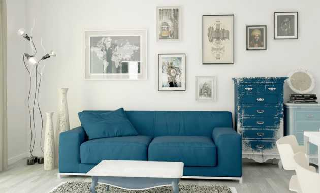 Blue Living Room Wall Color Materica D Sign