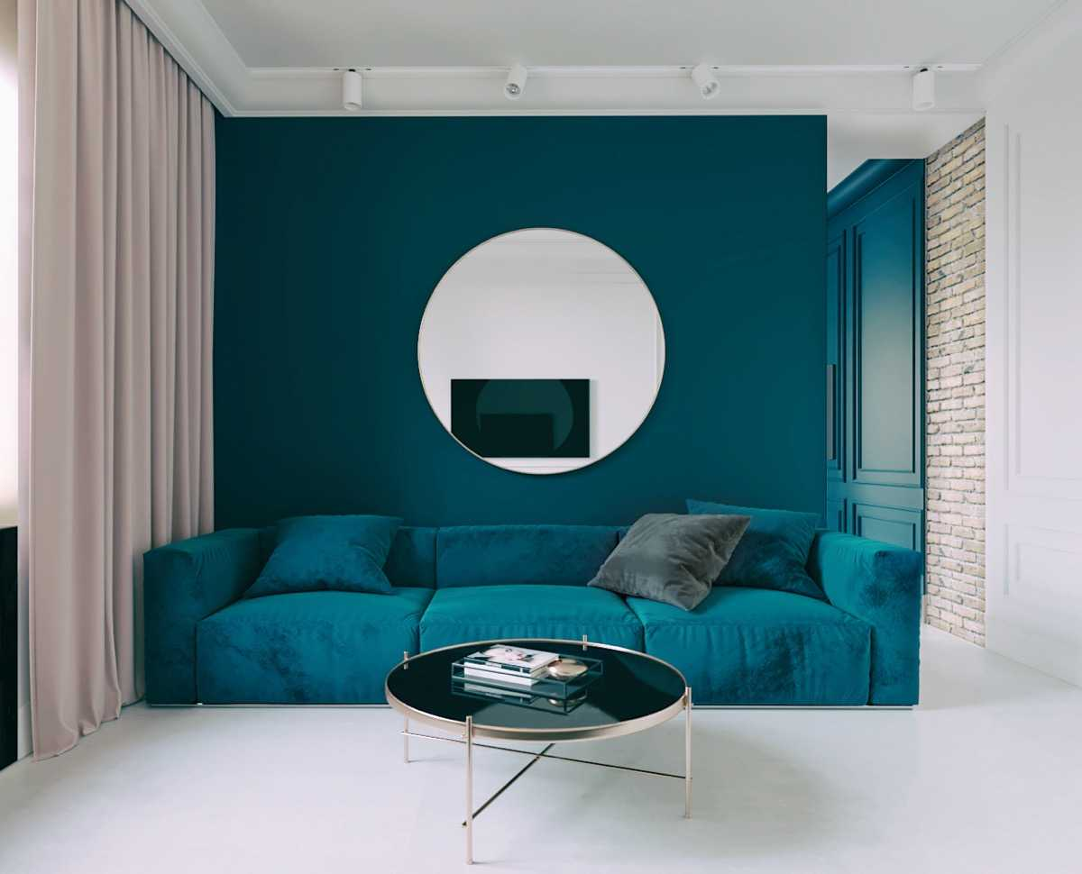 Blue Living Room Accent Walls Nexus